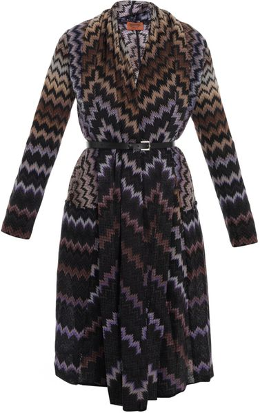 Missoni Degrade Zigzag Long Cardigan in Blue (multi) - Lyst