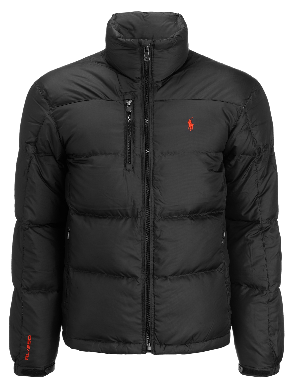 Polo Ralph Lauren Snow Puffer Jacket Black In Black For