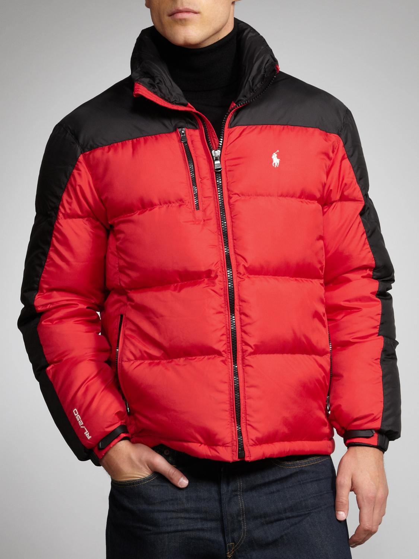 Polo Ralph Lauren Snow Puffer Jacket Red for Men - Lyst