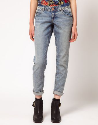 River Island Light Wash Boyfriend Jean - Lyst