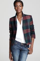 Theory Blazer Nillian Invictus Plaid - Lyst