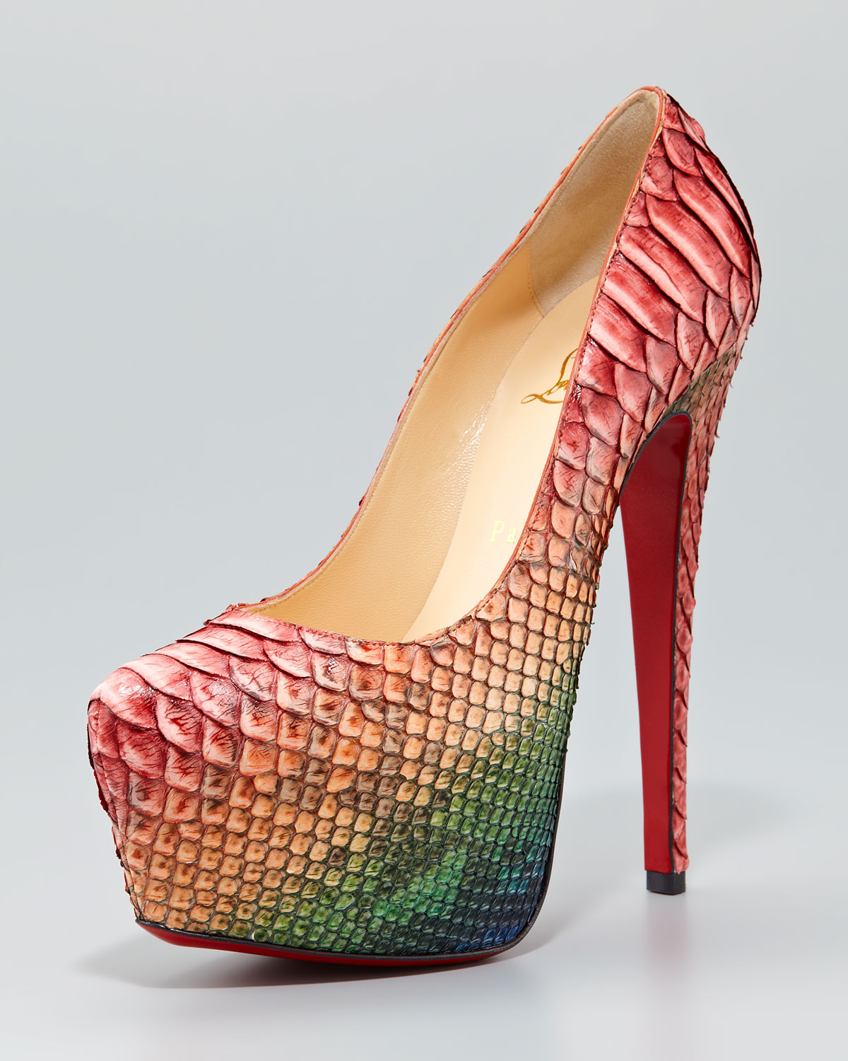 Christian Louboutin Embellished Python Pumps sale from china sale with credit card vbxh9N0