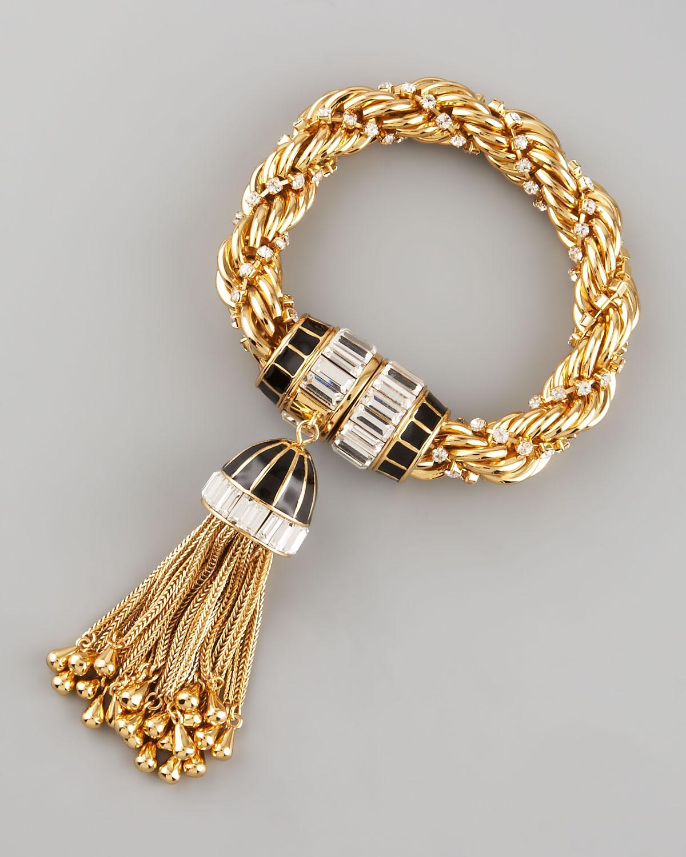 Rachel zoe Tassel Bracelet in Metallic