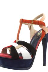 Yves Saint Laurent Colorblock Tribute Sandal - Lyst
