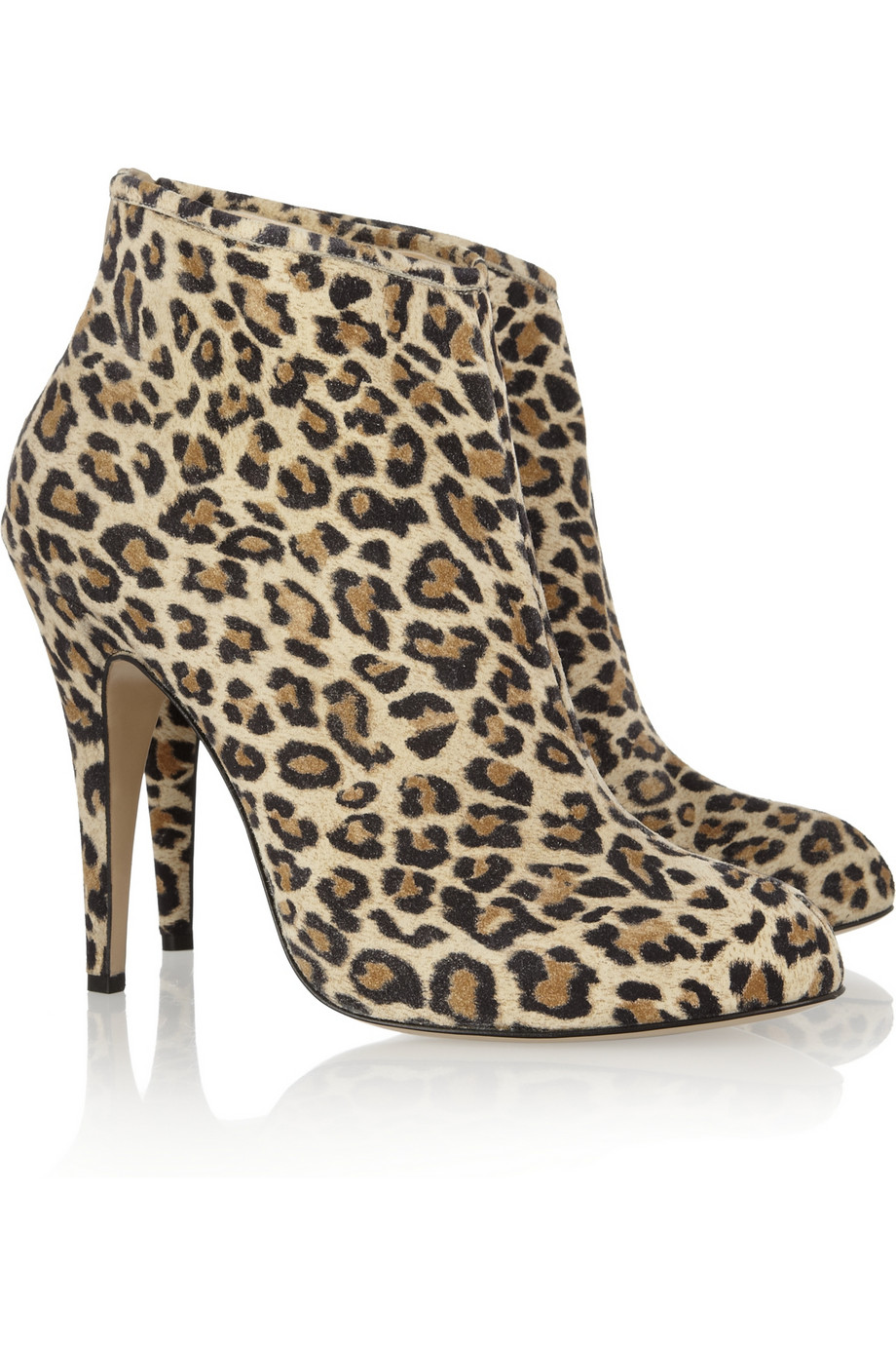 print ankle boots womens