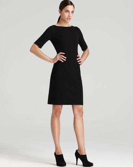Three Dots Three Dots Ponte Elbow Sleeve Sheath Dress in Black   Lyst