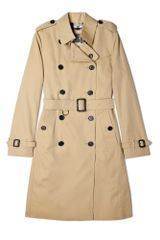 Burberry Brit Honey Cotton Trench Coat