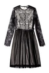Catherine Deane Maria Monochrome Lace Long Sleeve Dress in Black - Lyst