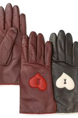 Diane Von Furstenberg Keyhole Heart Applique Gloves - Lyst