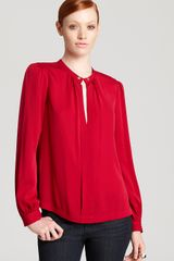 Diane Von Furstenberg Billow Long Sleeve Top - Lyst