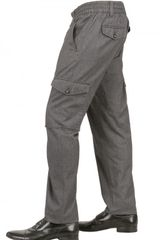 Dolce & Gabbana Herringbone Cotton Trousers - Lyst