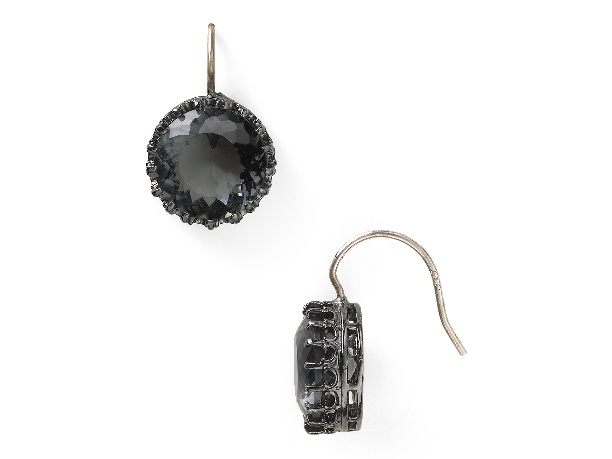 Juicy couture Solitaire Drop Earrings in Black