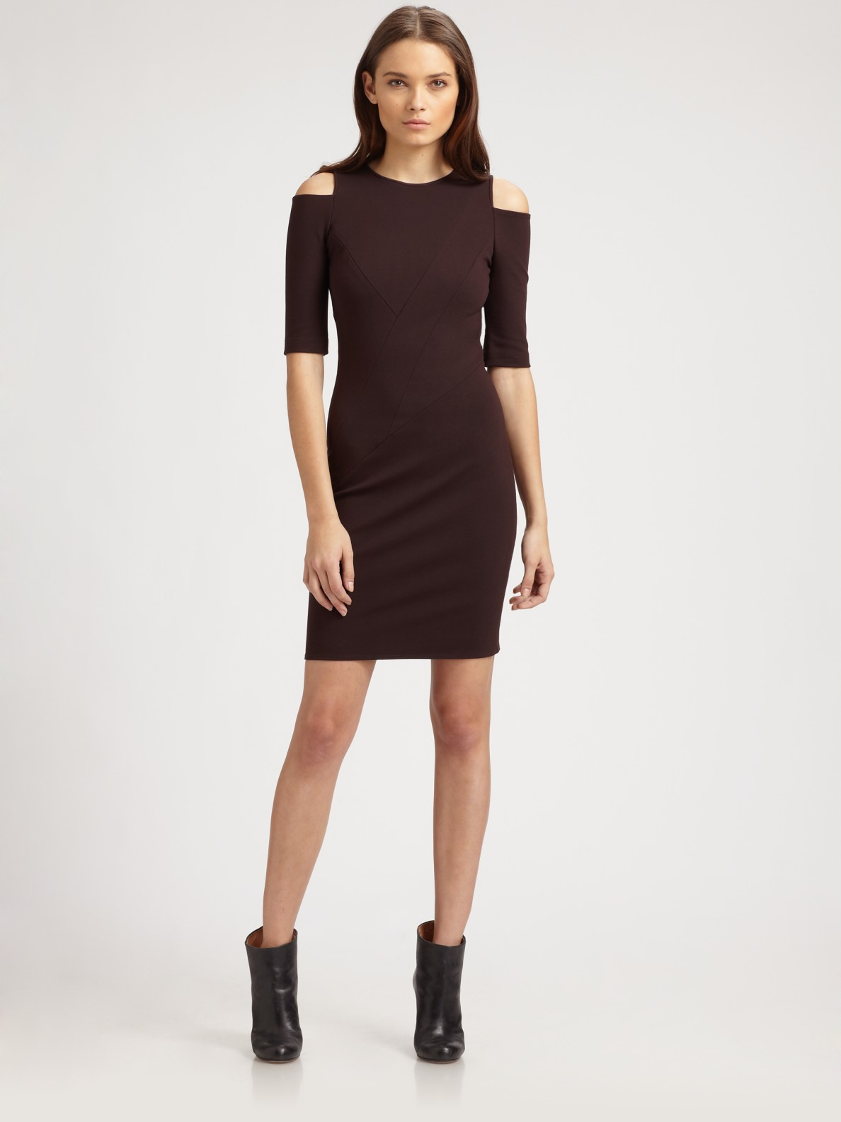 Cut Out Shoulder Dress