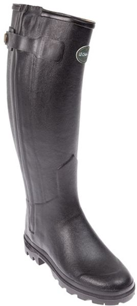 Le Chameau Rubberised Leather Boot - Lyst