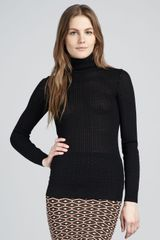 M Missoni Ribbed Turtleneck Sweater - Lyst