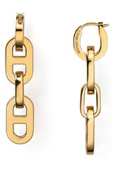 Michael Kors Link Drop Earrings - Lyst
