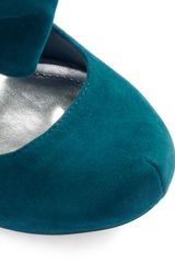 Modcloth Rules Of The Bowed Wedge in Teal in Green (teal) - Lyst