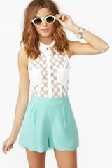 Nasty Gal Veracruz Shorts Mint - Lyst