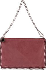 Stella Mccartney Chain Trimmed Clutch in Red (purple) - Lyst