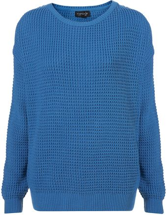 Topshop Knitted Textured Grunge Jumper - Lyst
