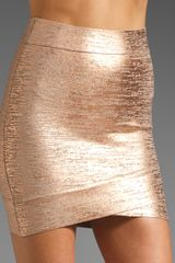 Bcbgmaxazria Mini Skirt in Pink (rose gold combo) - Lyst