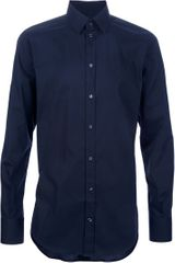 Dolce & Gabbana Slim Fit Shirt in Blue for Men - Lyst