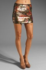 Haute Hippie Floral Sequin Mini Skirt - Lyst