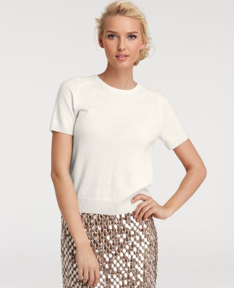 Shop cashmere silk short sleeve sweater at Neiman Marcus, where you will find free shipping on the latest in fashion from top designers.