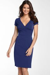 Donna Ricco Seamed Stretch Twill Sheath Dress - Lyst