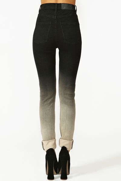 Nasty Gal Second Skin Jeans Ombre in Black Lyst