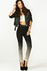 Nasty Gal Second Skin Jeans Ombre in Black - Lyst
