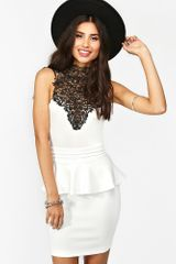 Nasty Gal Tied Crochet Peplum Dress - Lyst