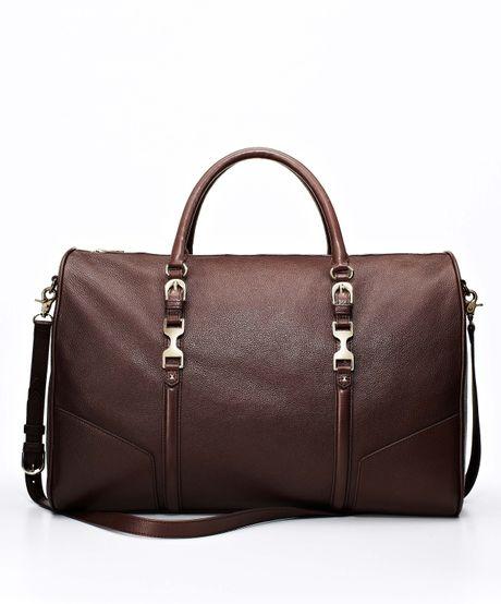 Ann Taylor Weekender Duffle Bag in Purple (oxblood)