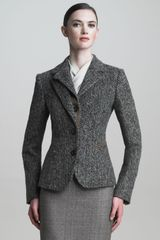 Armani Suede trimmed Riding Jacket - Lyst