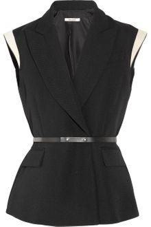 Bally Sleeveless Wool Piqué Blazer - Lyst