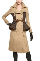Burberry Prorsum Tweed Cotton Gabardine Trench Coat - Lyst