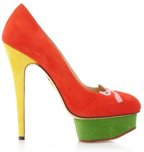 Charlotte Olympia Arabella in Red - Lyst