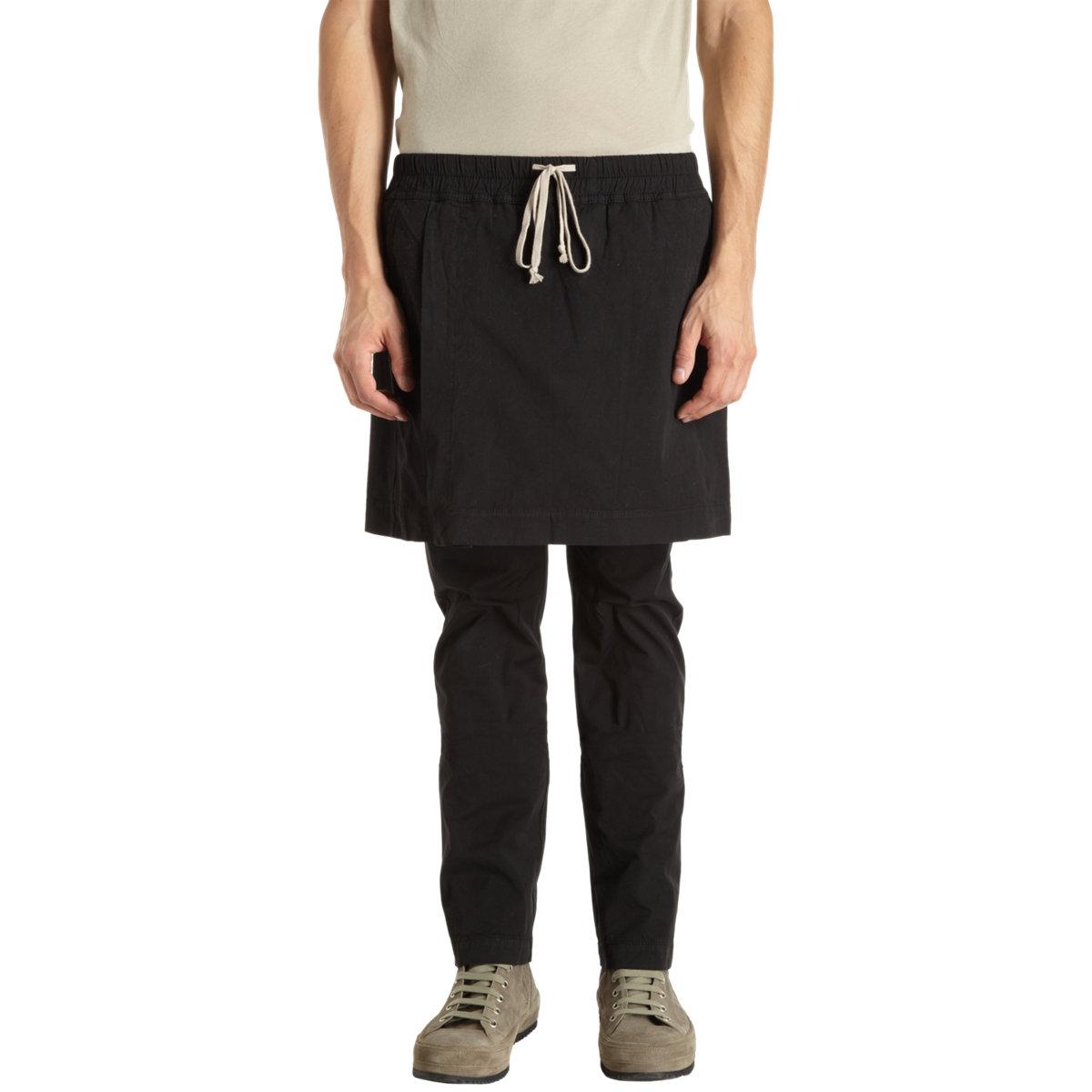 Gallery  sc 1 st  Lyst & Lyst - Drkshdw by rick owens Skirt Tented Pant in Black for Men