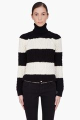 DSquared2 Striped Cable Knit Turtleneck