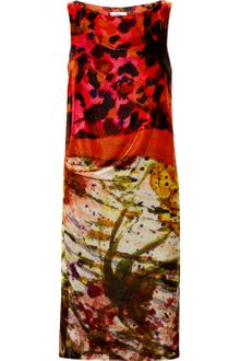 Erdem Adrianna Printed Velvet Dress - Lyst