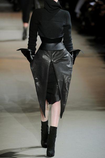 haider ackermann texturedleather origami skirt in black lyst