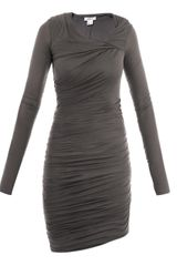 Helmut Lang Slack Jersey Twist Dress - Lyst