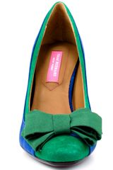 Isaac Mizrahi Lauren Medium Suede in Blue - Lyst