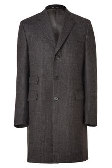 Jil Sander Charcoal Glen Plaid Wool Coat - Lyst