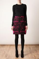 Lanvin Silk Organza and Lace Skirt in Pink - Lyst