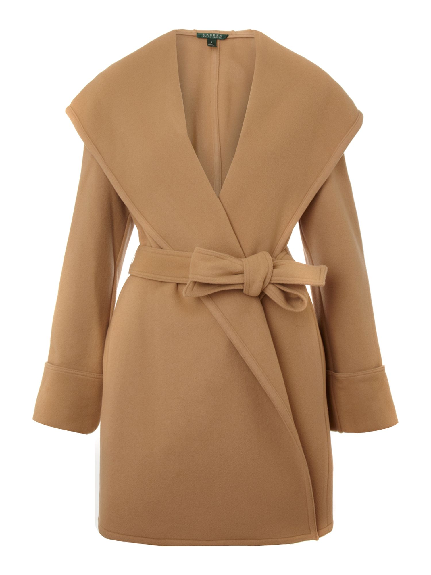 Lauren by ralph lauren Shale Wrap Coat in Natural | Lyst