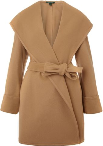 Lauren by Ralph Lauren Shale Wrap Coat - Lyst
