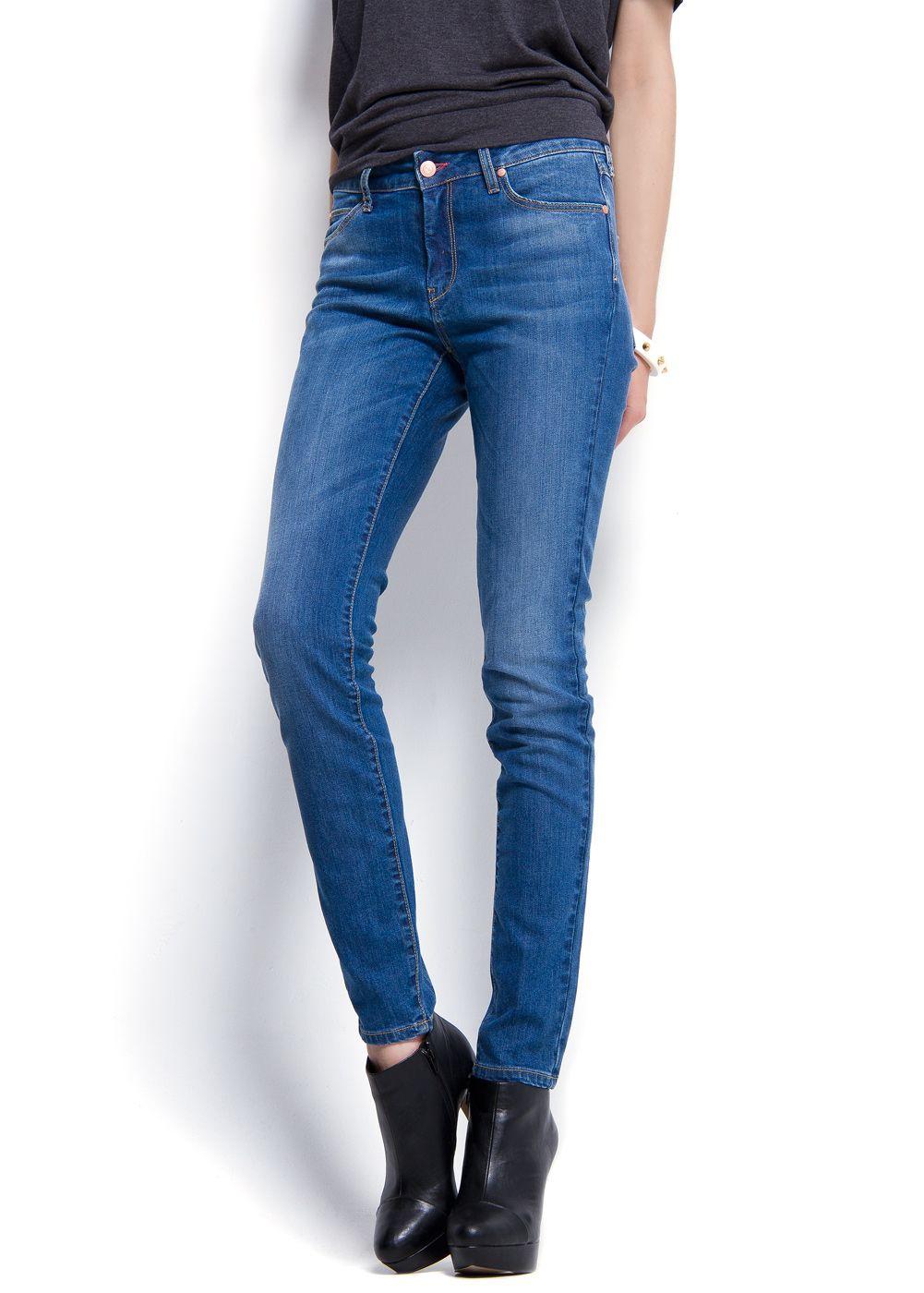 mango highwaist super slim fit jeans in blue lyst. Black Bedroom Furniture Sets. Home Design Ideas