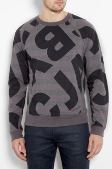 Marc By Marc Jacobs Stripe Marc Sweat Shirt - Lyst