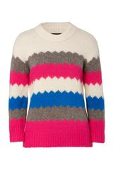 Marc By Marc Jacobs Birch Multi Wool Blend Nikolai Pullover - Lyst